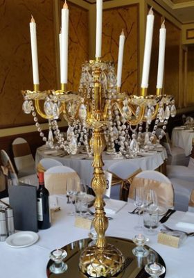 gold galaxy candelabra