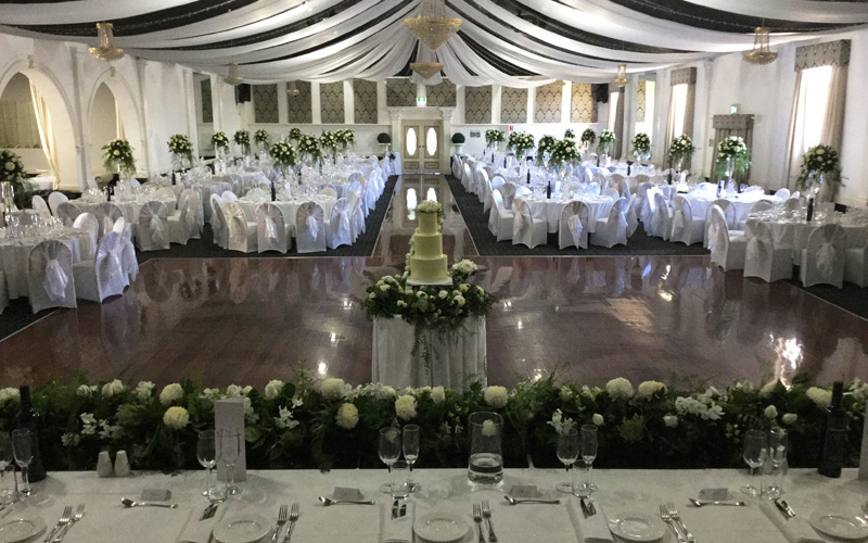 Reception decoration for Ball room decoration