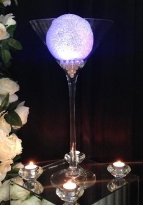 martini glass centrepiece