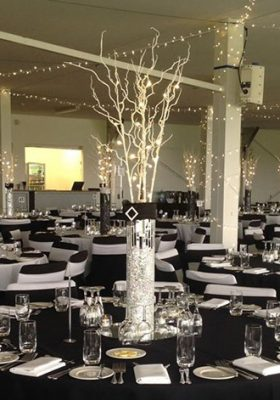 willow and fairy light centrepiece