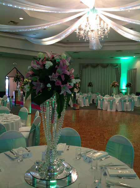 table centrepiece hire in Adelaide
