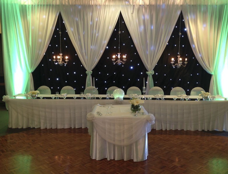 bridal table and backdrop hire in Adelaide