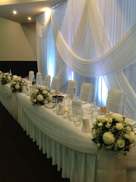 Bridal table decoration Adelaide