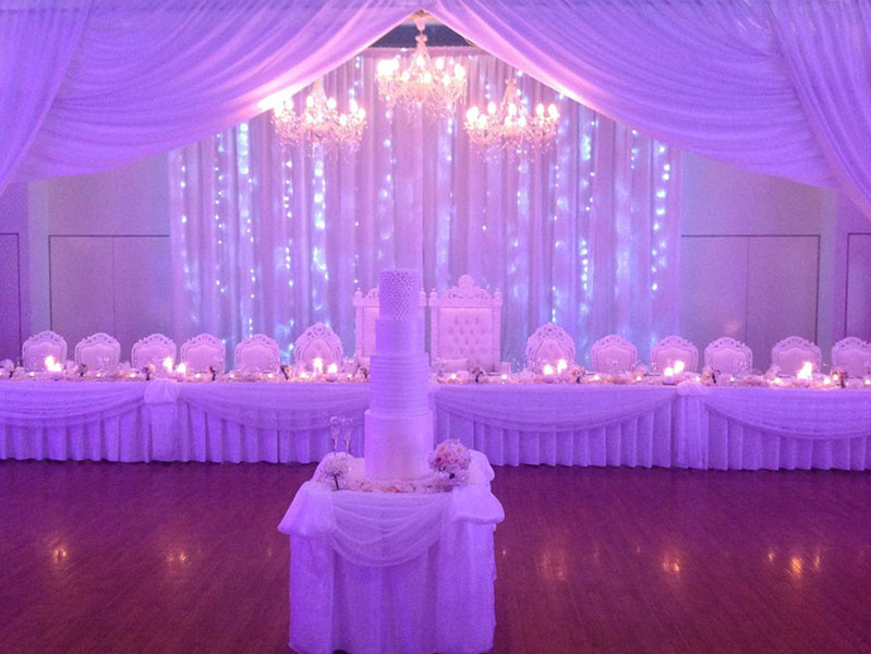 bridal and cake table decoration