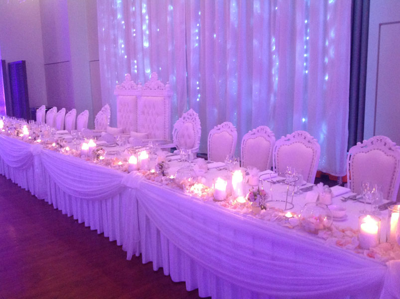 Adelaide bridal table decoration